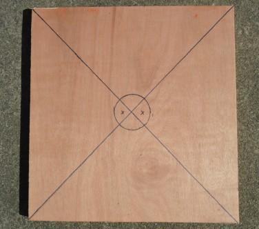 Base with circle drawn on.