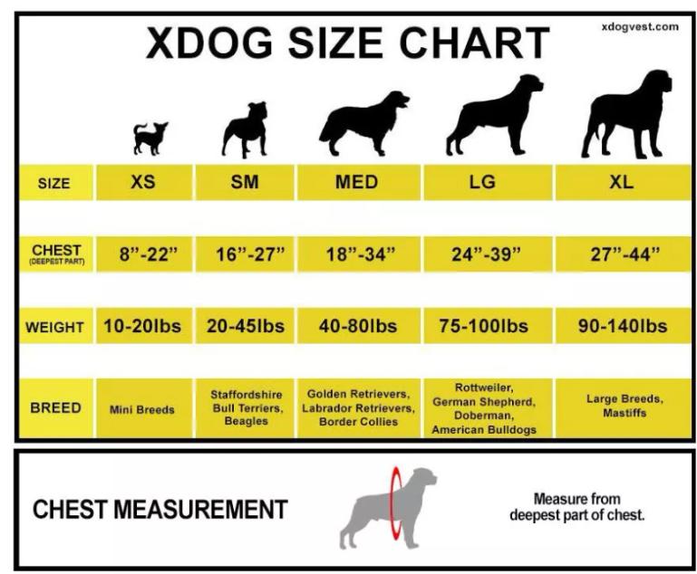 Xdog Size Chart